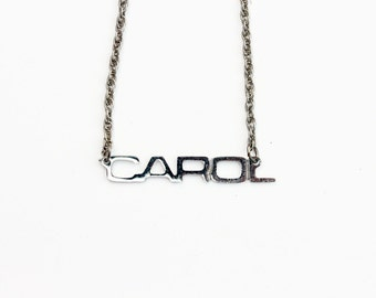 Vintage Name Necklace - Carol