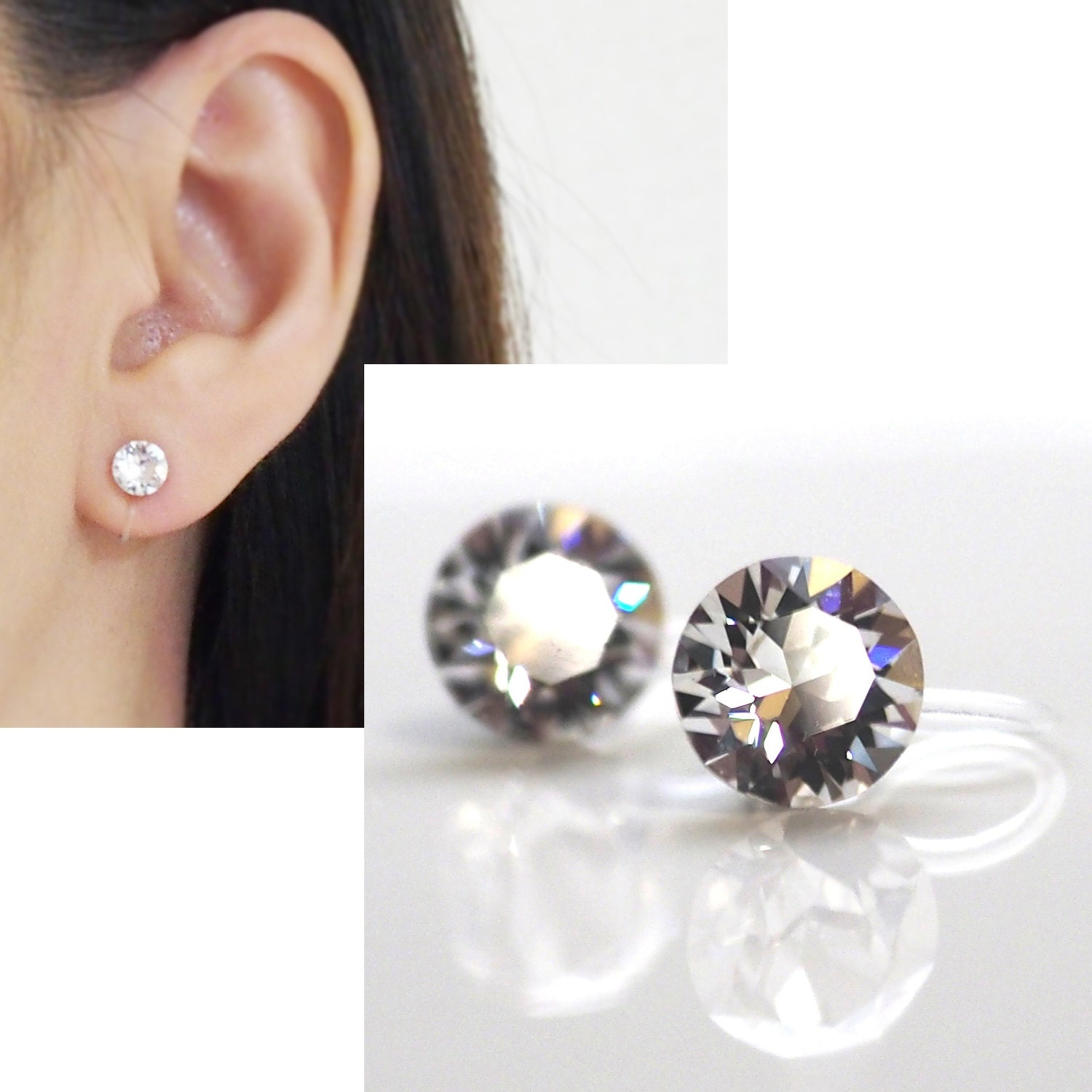 clip on plaza earrings products earring rhinestone