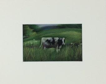 Cow in Field - Print