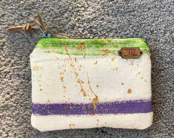 Hand paonted coin purse Small