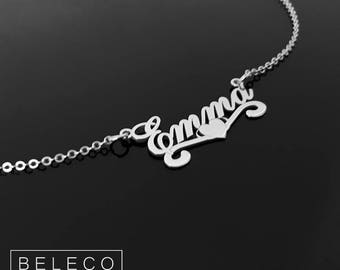 Name Necklace, Custom Name Necklace, Customize Name Necklace, Personalized Necklace, Personalized Jewelry Gold Plated 18k Or Sterling Silver