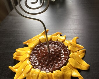 Sunflower Photo/Note Holder