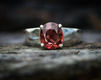 Pink Tourmaline Ring 8 -  Rosé Pink Tourmaline - Tourmaline Ring Size 8 - Pink Tourmaline - Engagement Ring Alternative Rosé Tourmaline