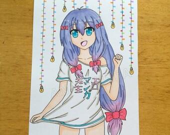 Anime girl art print