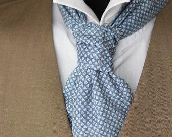Men's Cravat Ascot Mens Tie Printed Cotton Day Cravat Ascot 004 Mens Tie