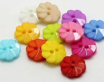 20 pcs Flower Pattern plastic Buttons,plastic Buttons,Buttons For Child,13mm x 13 mm(46-5)