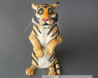 Tiger Ceramic Animal Sculpture