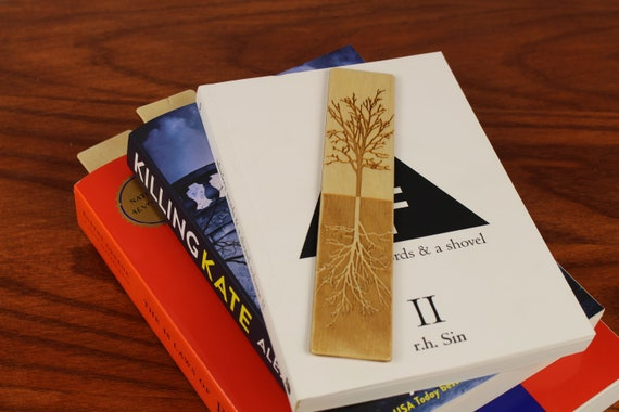 Tree of Life Bookmark,  Wooden Bookmark,  Russian Birch, Laser engraved, Paul Szewc