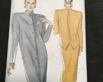 1980s New Look 6781  -  dress UNIQUE BACK buttoned detail, Multisite 8 -18 Uncut