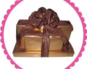 Gourmet Chocolate Gift Tower 3-Chocolate Pretzels And More!
