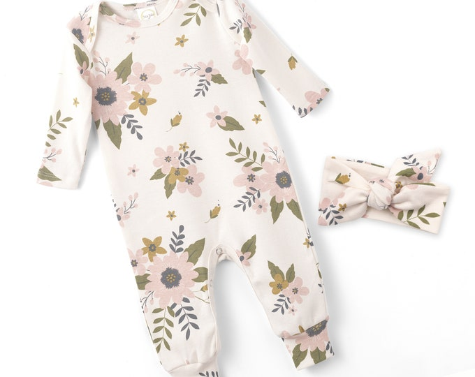 Newborn Baby Girl Coming Home Outfit, Baby Girl Romper, Infant Girl Onesie, Newborn Baby Girl Floral Romper, Baby Girl Wholesale, Tesababe