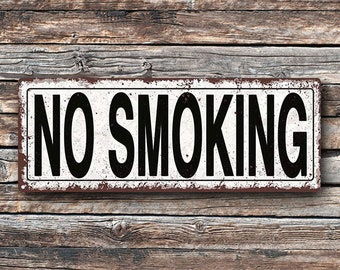 No Smoking Metal Street Sign, Rustic, Vintage   TFD2035