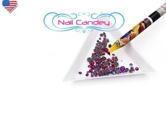 Gem Crystal Rhinestones Picker Pencil Nail Art Craft Decor Tool Wax Colorful Pen Nail Candey