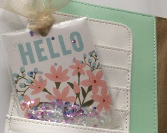 Seed Packet Style Shaker Tag-'Hello'