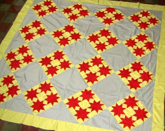 Our Newest - 4 sisters - Star feild has a Spectacular Playful feel (Quilt Top)