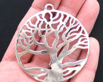 Huge Tree of Life Charms Antique  Silver Tone - SC2794