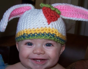 Baby Bunny Hat with Carrot