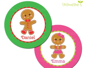Personalized Christmas Plate for Kids - Gingerbread Plate - Personalized Plate for Christmas - Holiday Plate for Kids