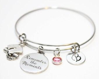 personalized graduation bracelet, graduation bangle, graduation charm bracelet, graduation initial bracelet, graduation gift, graduation
