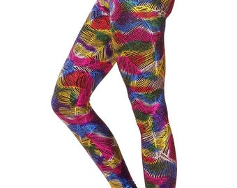 Rainbow Feathers - Leggings