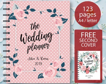 Wedding Planner Printable - Ultimate Printable Wedding Planning Kit: 62 Modern Organizer Pages, Checklist, Budget A4/Letter INSTANT DOWNLOAD