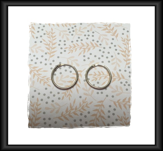 Silver Earring Hoops 18 mm - 1 pair