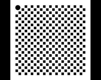 """1/8"""" Checks Mini Pattern Stencil - 4"""" x 4"""" - STCL715 - by StudioR12"""