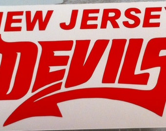 New Jersey devils vinyl decal