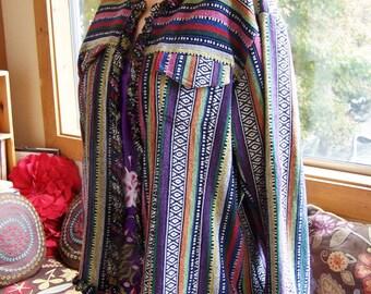 PLUS SIZE, Jacket, Guatemala, Cotton, Gypsy, Boho, Colorful, 2X