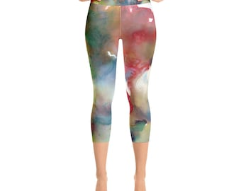 Goddess of Spring Yoga Capri Leggings