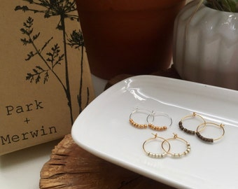 gold and silver 12mm hoops