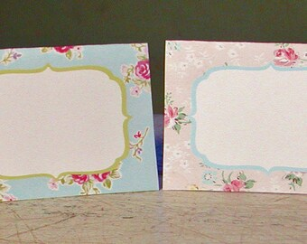 Instant Download Vintage Party Shabby Chic Printable Place Cards