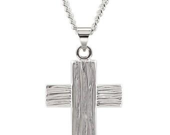 Sterling Silver Rugged Cross