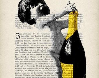 CELEBRATION original  giclee  print poster  mixed media wall decor