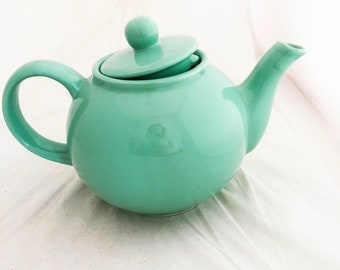 Teapot - Seafoam jadeite Ceramic Teapot medium decorative pastel