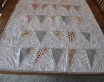Bunting Baby Quilt made with Hometown fabrics designed by Sweetwater for Moda