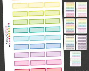 Quarter Box Planner Stickers  -  Suits Erin Condren And Other Planners - Repositionable Matte Vinyl