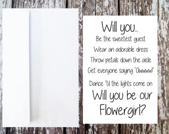 Will you be our Flowergirl Card, Junior Bridesmaid Proposal, Petal Girl Ask, Flowergirl Ask, Flowergirl Proposal, Flowergirl Duties