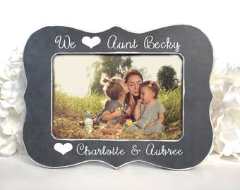 Gift for Aunt Gift for New Aunt Picture Frame for Aunt from Nieces Nephews Aunt Picture Frame We Heart Our Aunt Personalized Gift 4x6