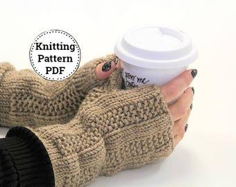 Knitting Pattern |Fingerless Gloves | Fingerless Mitts Pattern | Knitted Fingerless Mitts | Wrist Hand Warmers | Chunky Fingerless Mitts