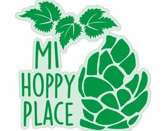 MI Hoppy Place Decal