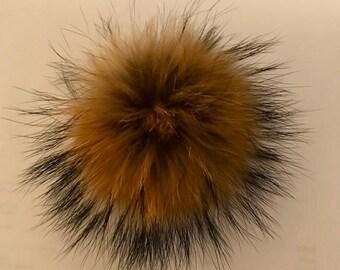Genuine Real Fox Fur Pom Pom Hat Raccoon Pompom Fox Fur Pompom Fur Ball