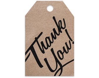 50 Thank You Printed Gift Tag 2-1/4x3-1/2,  wedding favors, hang tags, gift tags, labels, gift wrap