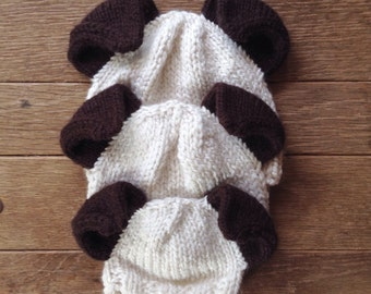 Puppy Ear Hat. Sized for newborn, baby, or toddler/ child. Great gift for dog lovers! Hand knit.