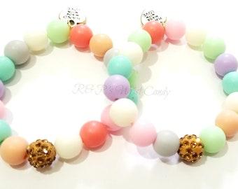 Colorful Beaded Bracelets, Girls Bracelets, Summer, Stretchy, Soft, Party, Best Friends, Custom, Handmade Beaded Jewelry