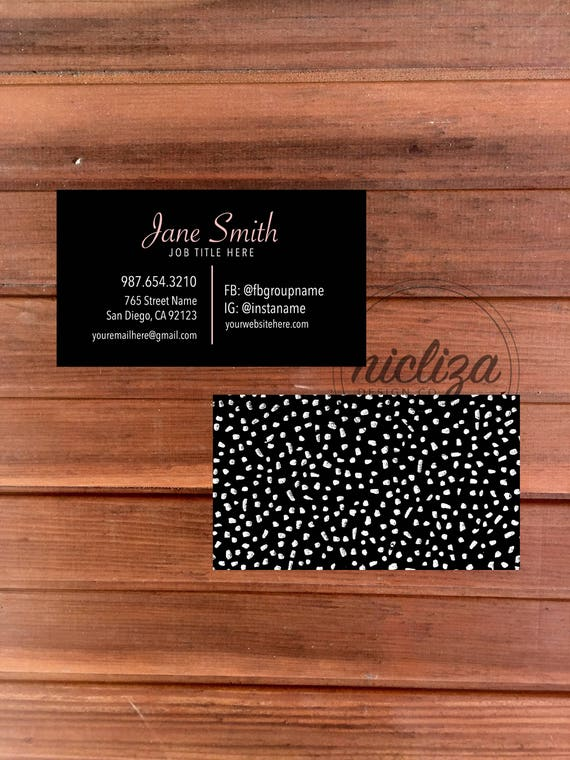 Custom business card black business card modern business reheart Image collections