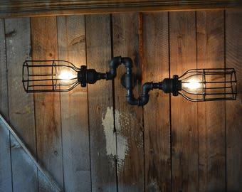 Triple Industrial Pipe Adjustable Wall Light Wall Light