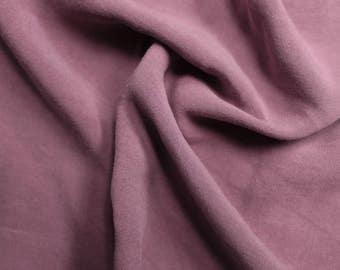 "Mauve Dark 55"" Light-Weight Rayon Challis Sand Wash Fabric by the Yard - Style 698"