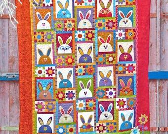 Rabbits at Hyde Park PDF Quilt Pattern | Quilt Pattern | Rabbit Quilt | Rabbits | Applique Quilts | Kids Quilts