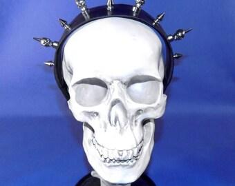 Skull Spiked Leather Headband